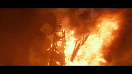 Abraham Lincoln Vampire Hunter - Bridge destruction sequence
