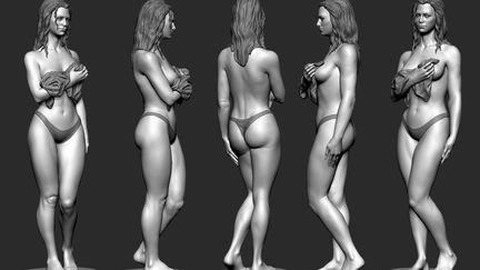 Female anatomy study