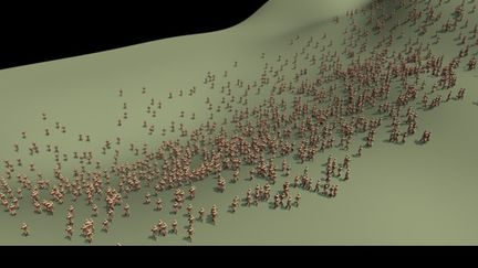 Crowd simulation for Maya