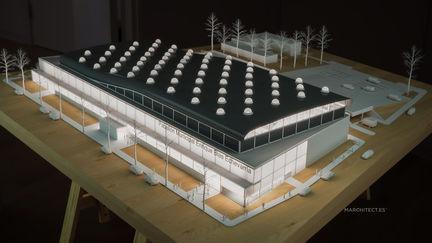 Sports Pavilion 3D architectural model