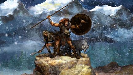 Barbarian wolf
