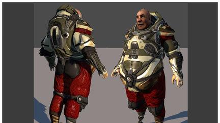 Fat pilot Character