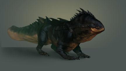 swamp dragon - render