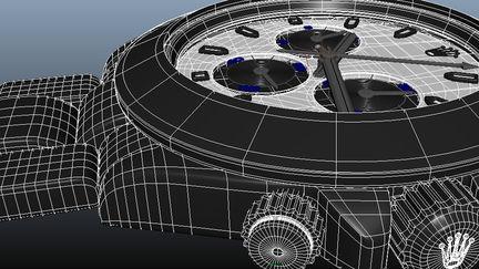 Rolex Daytona wireframe
