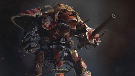 imperial knight Warhammer 40k fan art