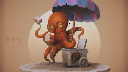 Octopus - 'Chu's Day at the Beach' Fan Art...