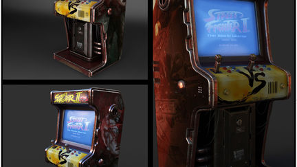 Cyberpunk Arcade Machine