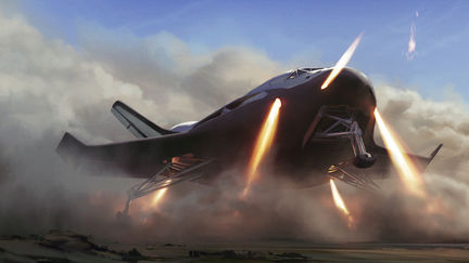 Rocket assisted landing