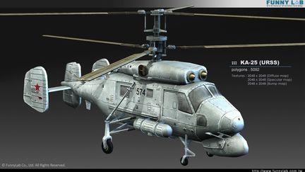 3D aircraft - KA25