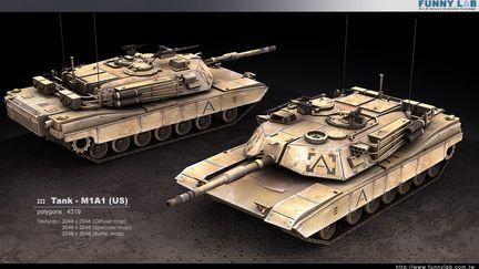 3D Tank - M1A1