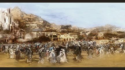 Advancing army