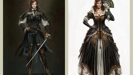 Elise de la Serre concept design - Assassin'S Creed Unity