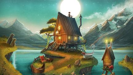 My secret log cabin lake