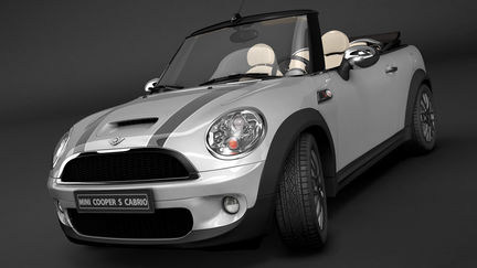 Mini Cooper in studio