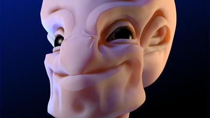 Quick Alien Head Sculpt