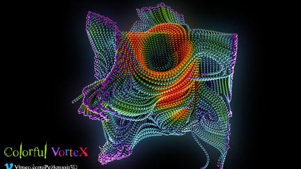 Houdini - Colorful Vortex