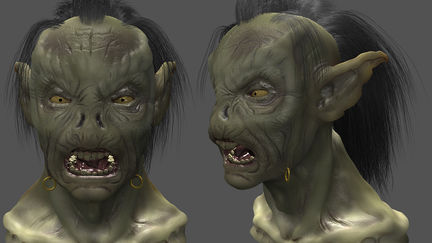 Moria Orc bust