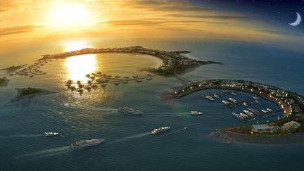 Moon and sun island