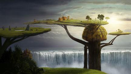 how i wish a wonderland-sureal painting