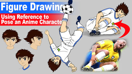 Using Reference Photos to Pose your own Anime Character (Captain Tsubasa)