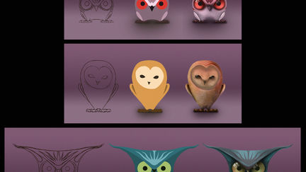The 3 owls - stages