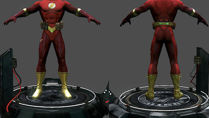 The flash/video game art