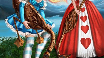 Steampunk Gothic Lolita Alice in Wonderland Croquet