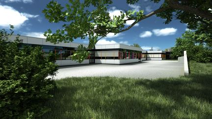 Architecural visualisation of a school building