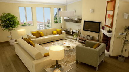 Living room pre-viz