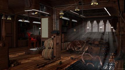 Cabin Captain Scarlet