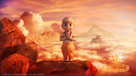 3D Character Concept  with Matte-Painting BG