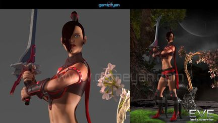 3D Eve Lady Warrior Character Animation By GameYan Animation Production Companies