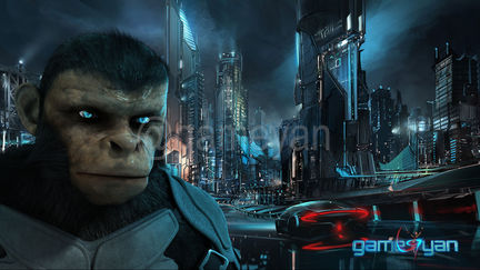 Cinematic 3D Character of Kung Fu Ape – sci-fi Cartoon feature film by Gameyan 3D Art Outsourcing - California, USA