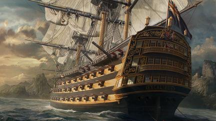 HMS Excalibur off Dominica