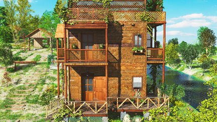 3D Forest House