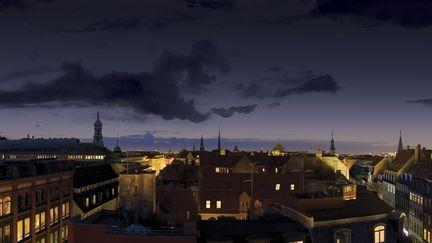 Copenhagen Skyline (matte painting)