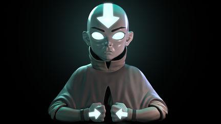 Avatar Aang. The Last Airbender.
