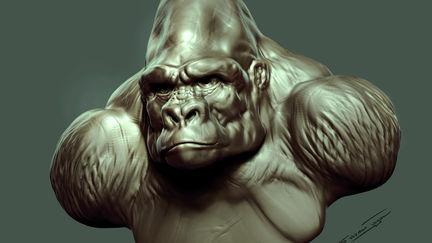 Gorilla King Bust