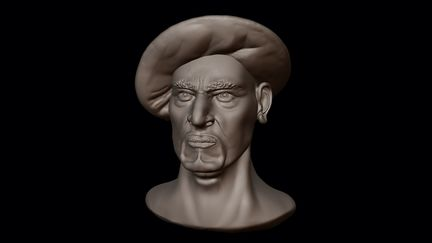 Semirealistic Male Face