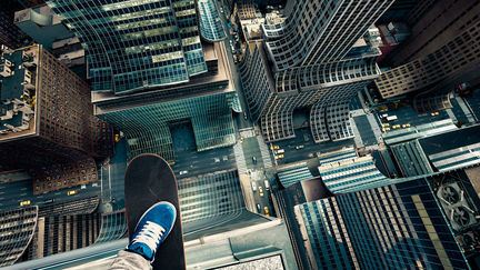 Skyscraper Skateboarding