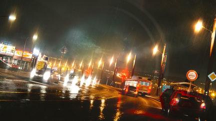 Night Highway Lights