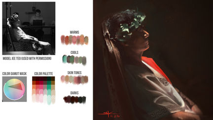 In-Class Live Model Jee Teo | Color Painting | Brainstorm DC1 | VisualPops