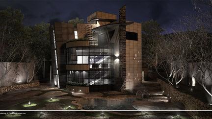 villa exterior (night shot)