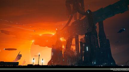Comcept 32 -Halo Over Sunset City