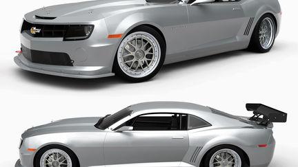 Camaro White Studio