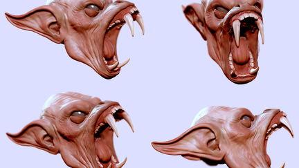 Creature - screenshots within Zbrush 4