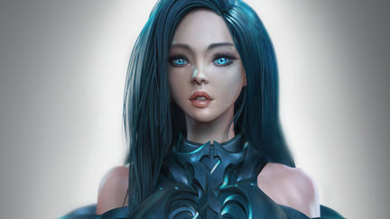 Blue eyes girl( with tutorials)