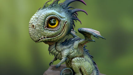 Baby Dragon textured