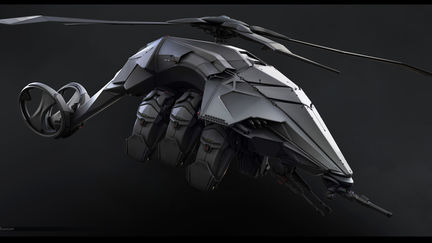 Sci-Fi Helicopter Concept