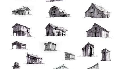 Wooden buildings